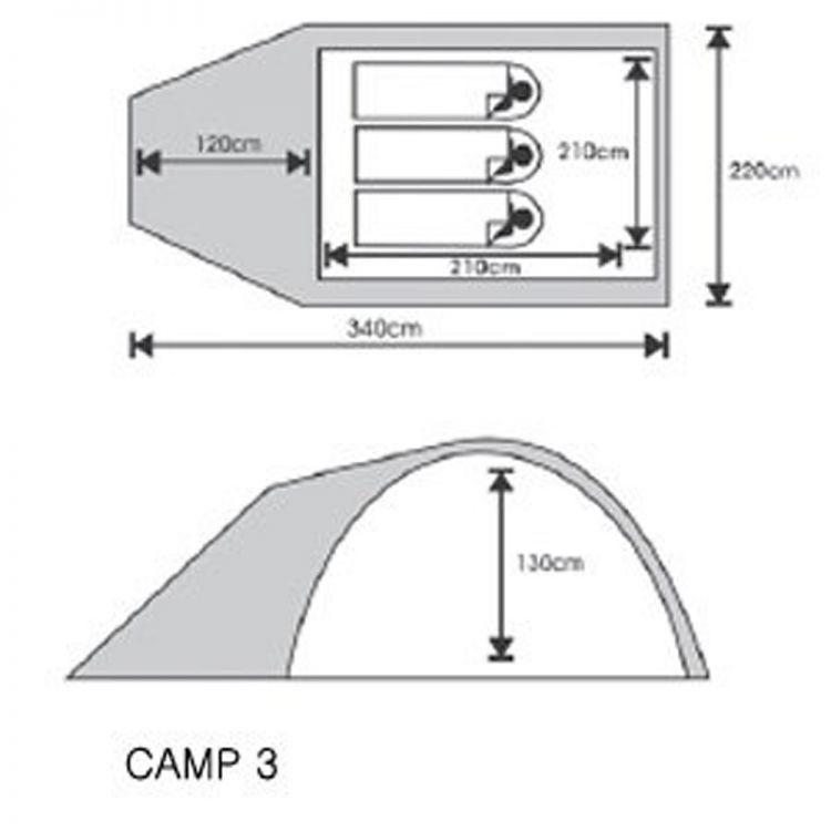 BERG NAMIOT CAMP 3 2000mm