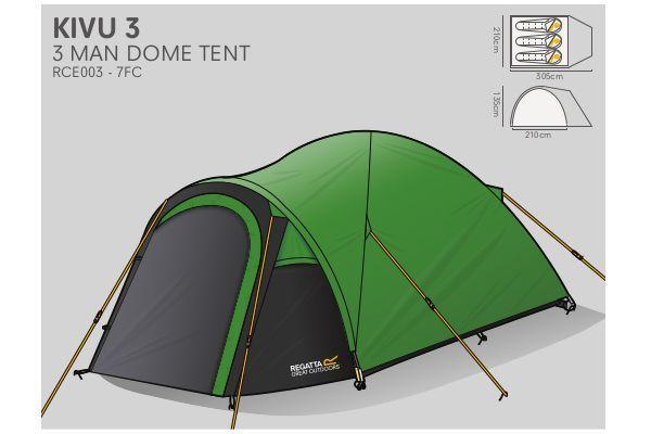 Namiot turystyczny Regatta Kivu 3 osobowy | eTRAPER.PL