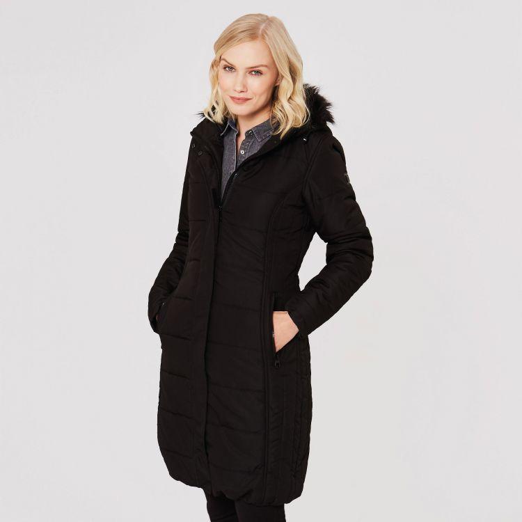 damska ocieplana kurtka parka płaszcz fermina ii